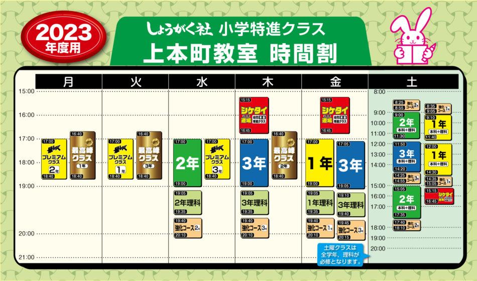 上本町教室時間割