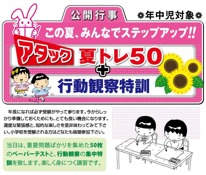 夏トレ50+行動観察特訓